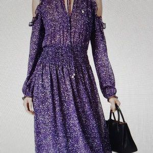 Michael Kors Cold Shoulder Tweed Dress